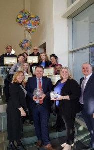 Left to Right & front to back: Sinead Grogan, Healthcare Operations Manager, Ian Hyland, Mary O'Shea Moran, David Ferguson, Operations Director, Anna Knysak, Shazad Satter, Elzibiete Przekwas, Ewa Kosser, Luara Whelan, Zahoor Ulhaq, Verona Pentony CSR & Quality Manager, Paul Whelan.