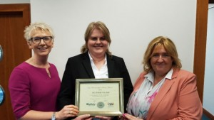 IASI Award Winner Belvedere College, Silver Award. Left to right: Mary Patterson, Operations Director, Jolanta Urbasiute, Account Manager and Sharon McNally, Operations Manager.