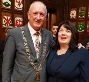 Nial Ring Lord Major of Dublin with Verona Pentony at Women in the Community